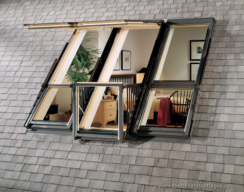 Strešni balkon vsaki mansardi podarja mesto na soncu.