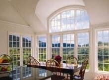 velika lesena okna pvc dnevna