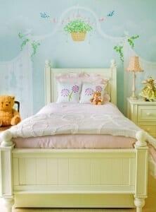 otroška soba slikopleskar barva stene ideje 1243