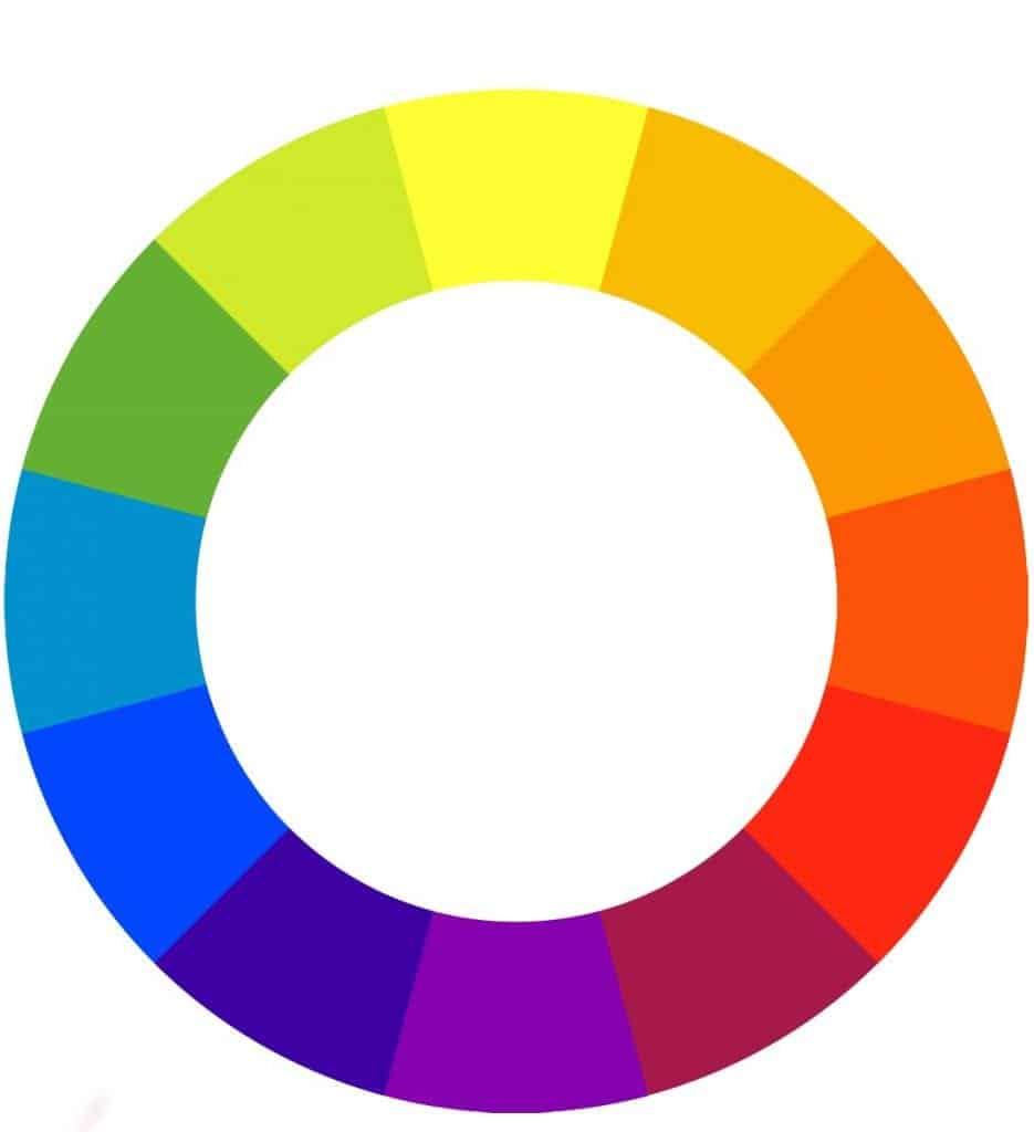 Barvni krog vam lahko pomaga izbrati kontrastne barve - komplementarne so tiste, ki si stojijo nasproti.