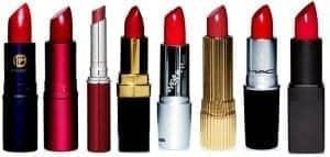 Ob veliki izbiri rdečih šmink izberite pravi odtenek