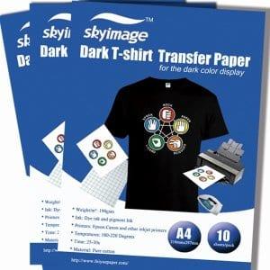 temni transferni papir za tisk na majice