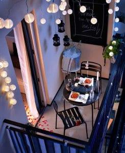 Stilska preobrazba balkona: Romantika kar doma!