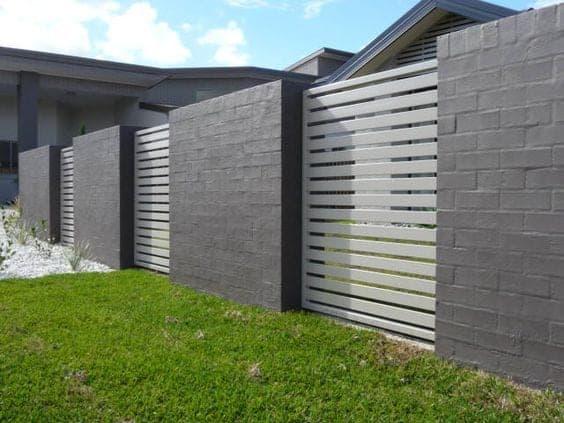 betonsko - lesena ograja cene