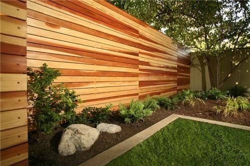 lesena ograja cena horizontalna