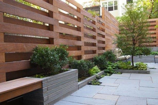 lesene ograje vrt cene