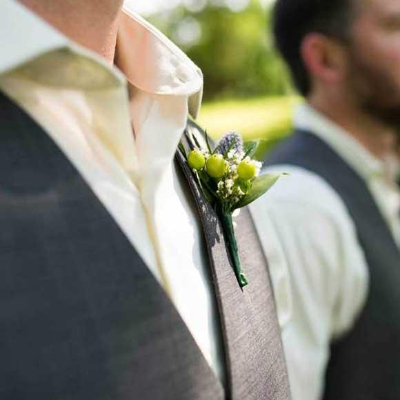 naprsni poročni šopek cene