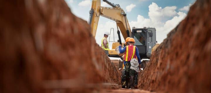 izkop gradbena jama gradnja hiše