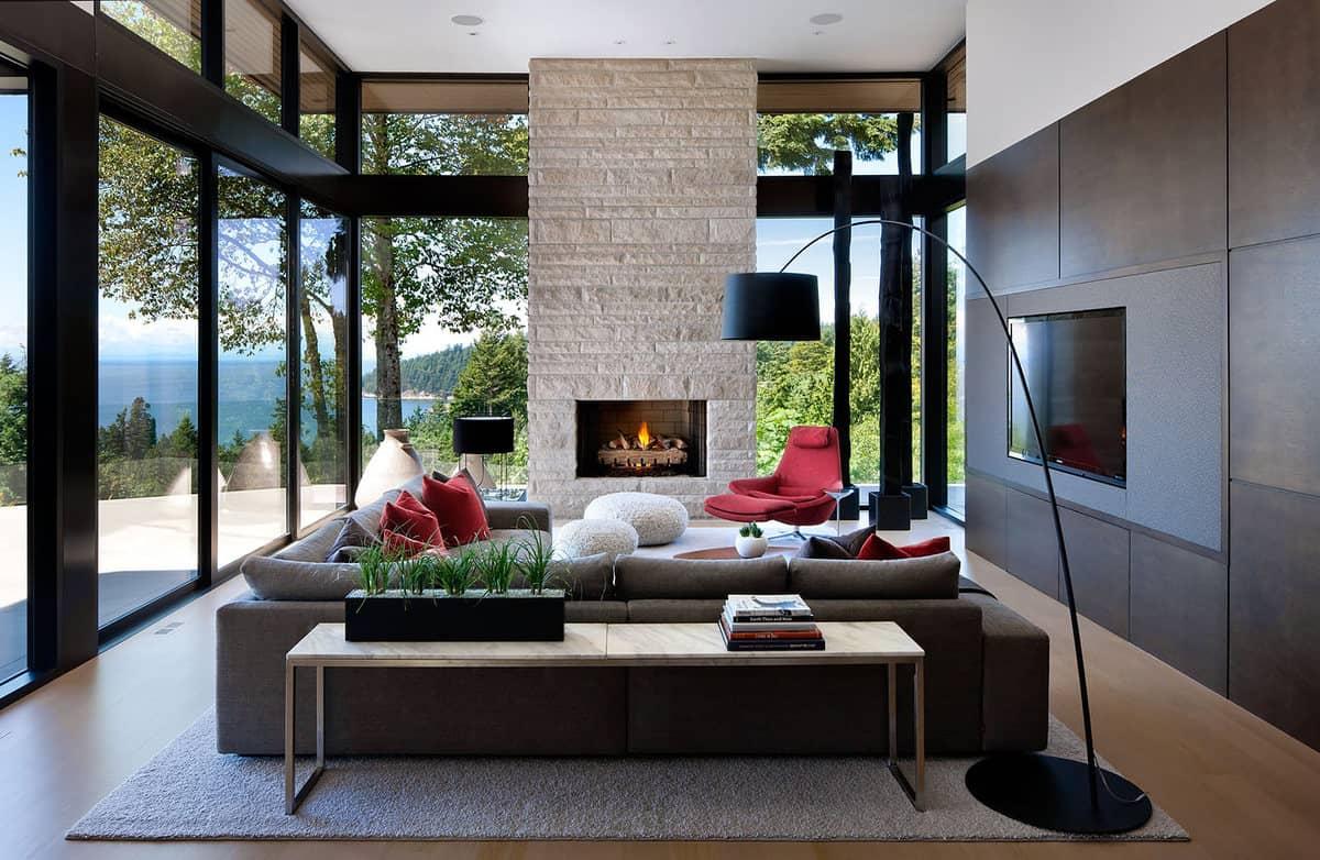 ideje za interier in notranje oblikovanje doma - modern stil