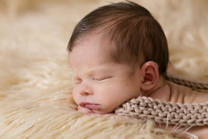fotografiranje dojenčkov s pleteninami