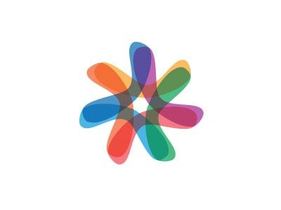 oblikovanje logotipa - polprosojni vzorci