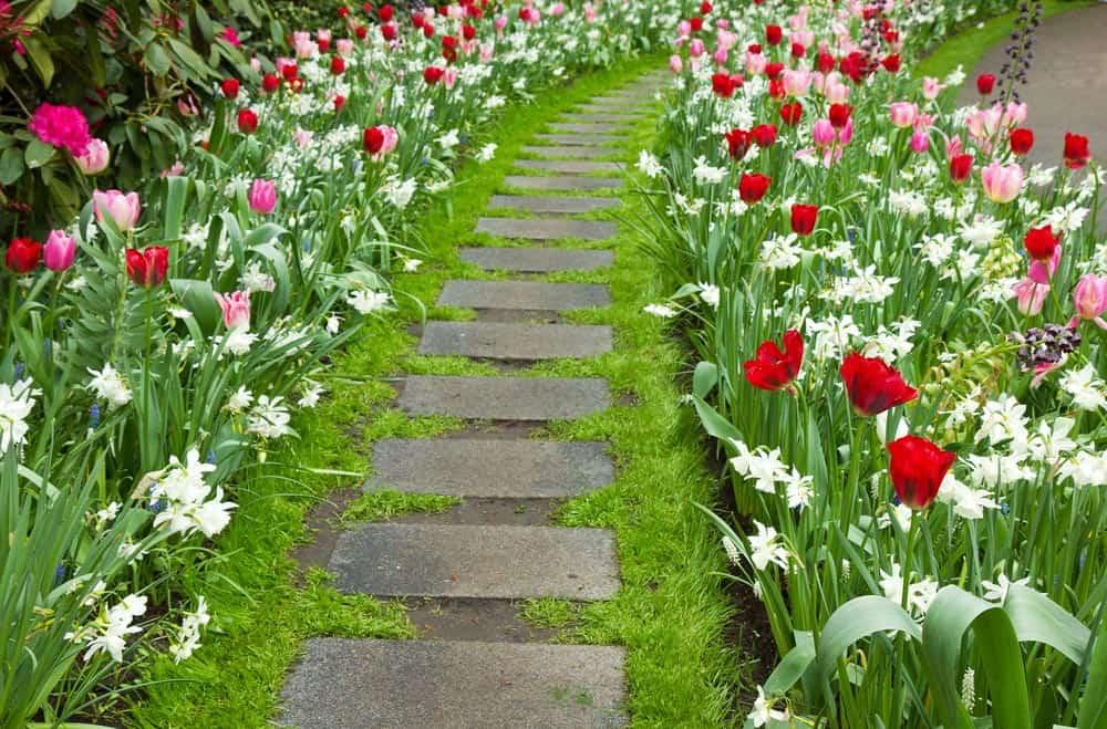 tlakovanje-vrtov-cvetlice-sprehajalne-poti