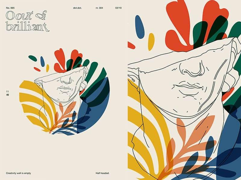 grafični design, del obraza