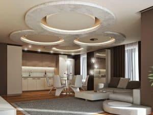 Na spuščen strop lahko vgradite okrasne lučke.