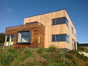 Lesena fasada postaja vse bolj priljubljena tudi v Sloveniji.