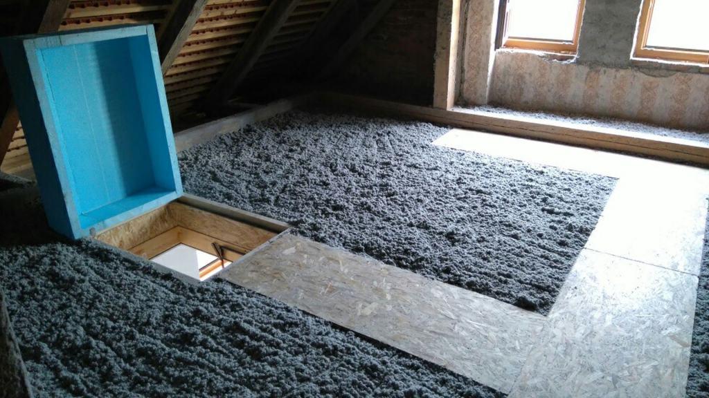 toplotna izolacija podstrešja mansarde