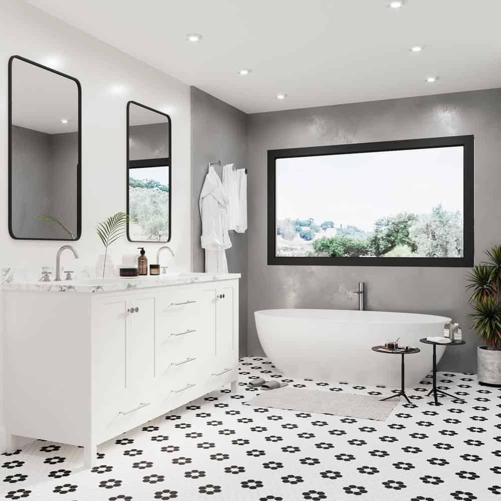 Črno beli mozaik