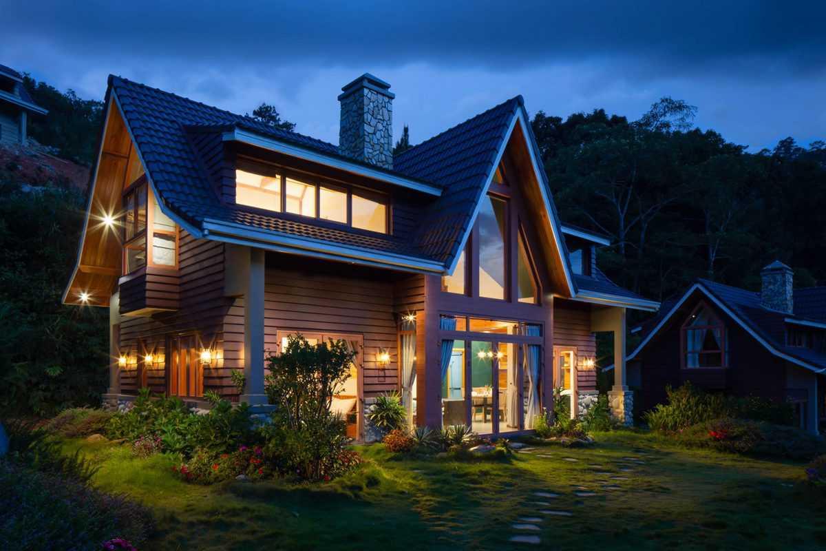 lesena hiša na ključ